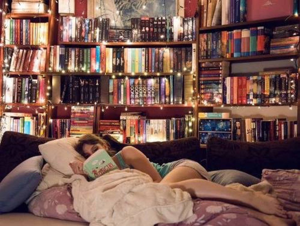 cute and cozy library