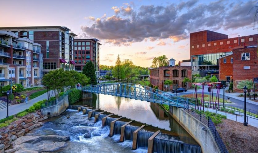cool pic of Greenville - Clemson college town