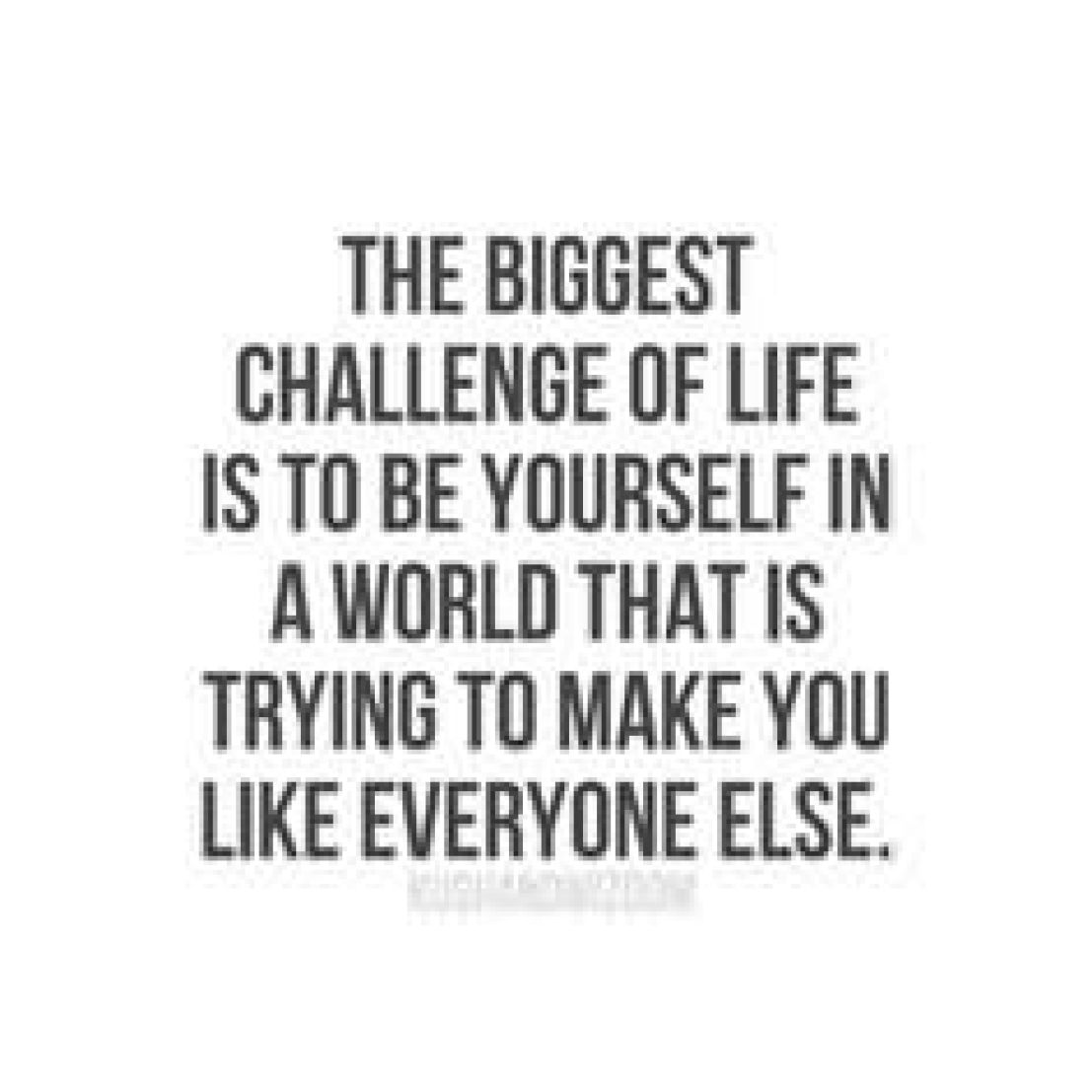 cute be yourself quote