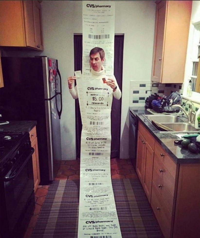 funny cvs receipt costume