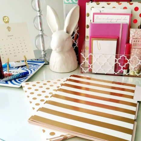 gold folders