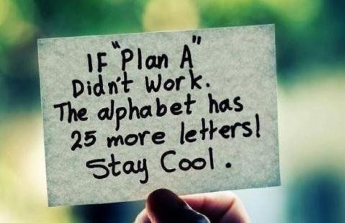 cute plan b quote
