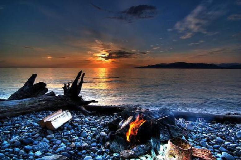 beautiful Wreck Beach in Vancouver