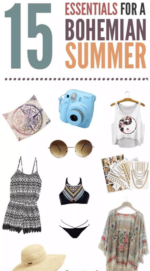 Check out the 15 Essentials For A Bohemian Summer