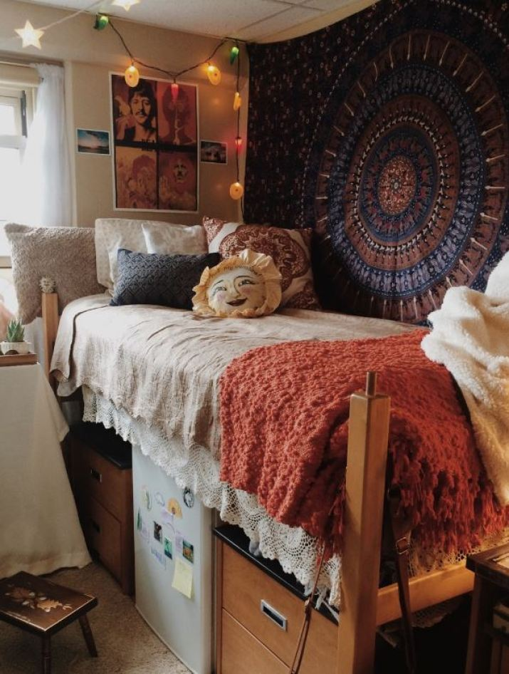 How To Hang A Tapestry On The Wall how to decorate your dorm walls without causing damage - society19