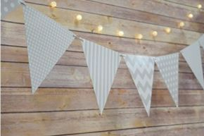 triangle banner grey