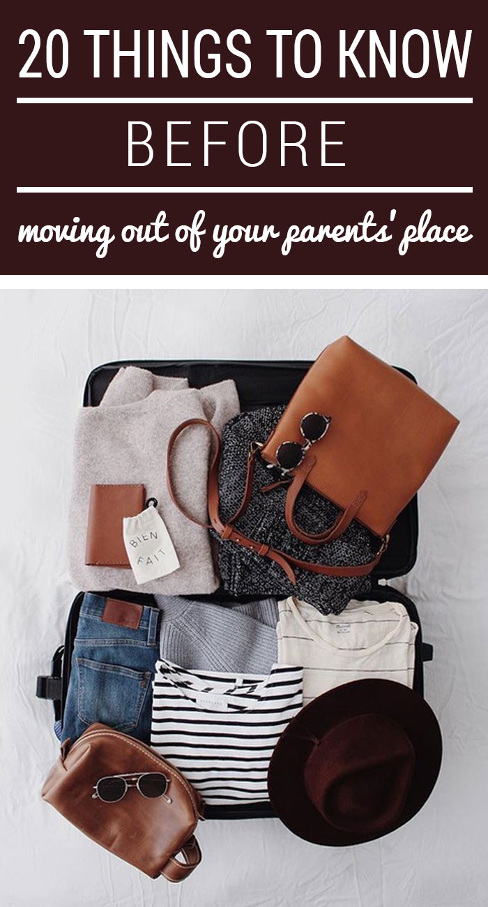 Great tips on some things you should know before moving out!