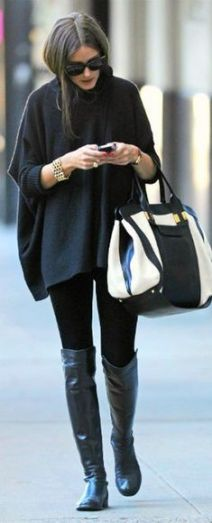 Fall sweaters you need in your closet this season - Poncho outfit