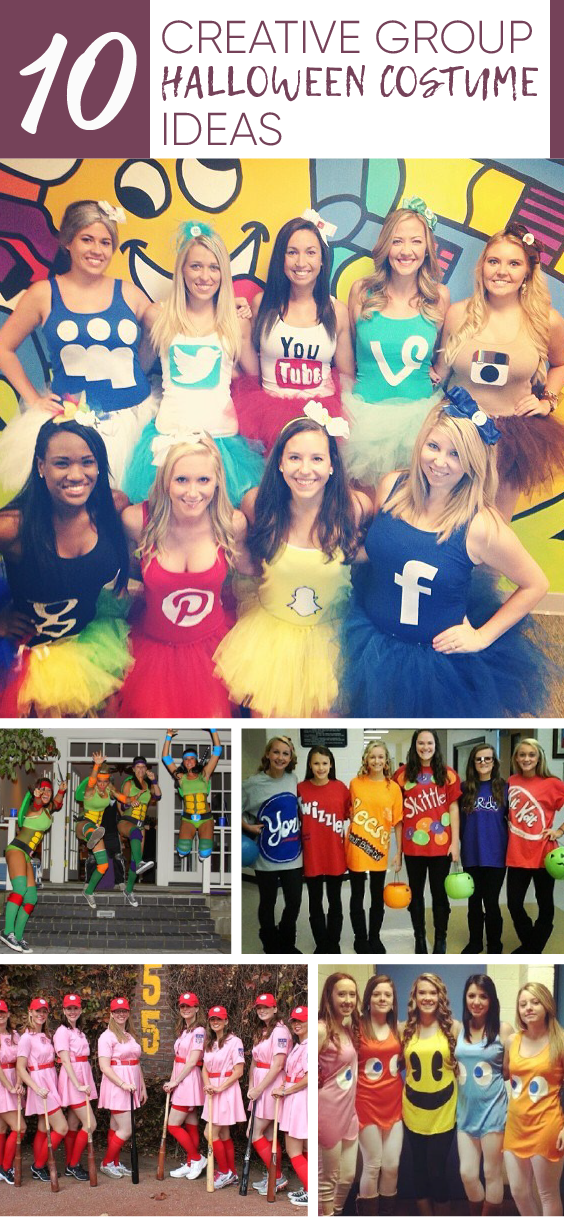 Need a group costume idea? Check out these create costume designs!
