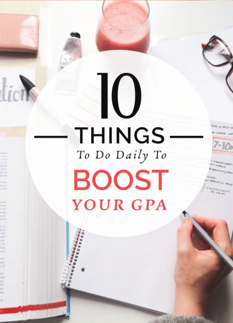 10 things to do to boost your gpa