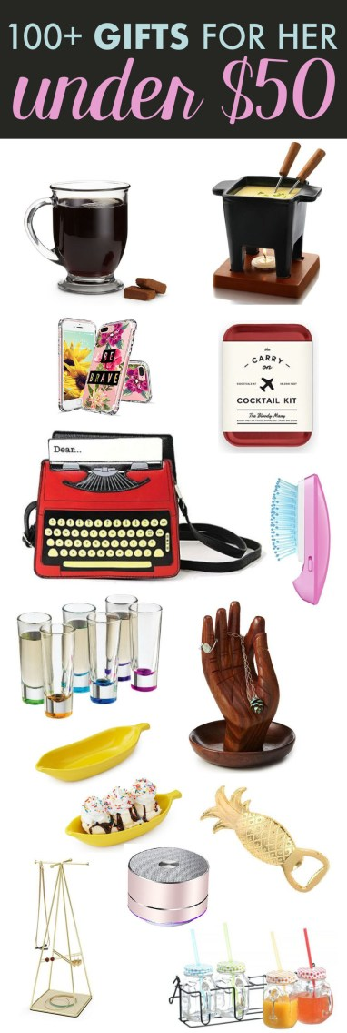 If you're having trouble coming up with gift ideas, here are 100 gifts for under 50 bucks!