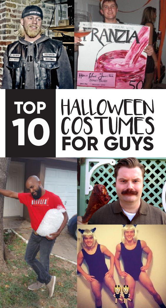 Creating a Halloween costume for guys isn't always easy. Here are the top 10 guy Halloween costumes!