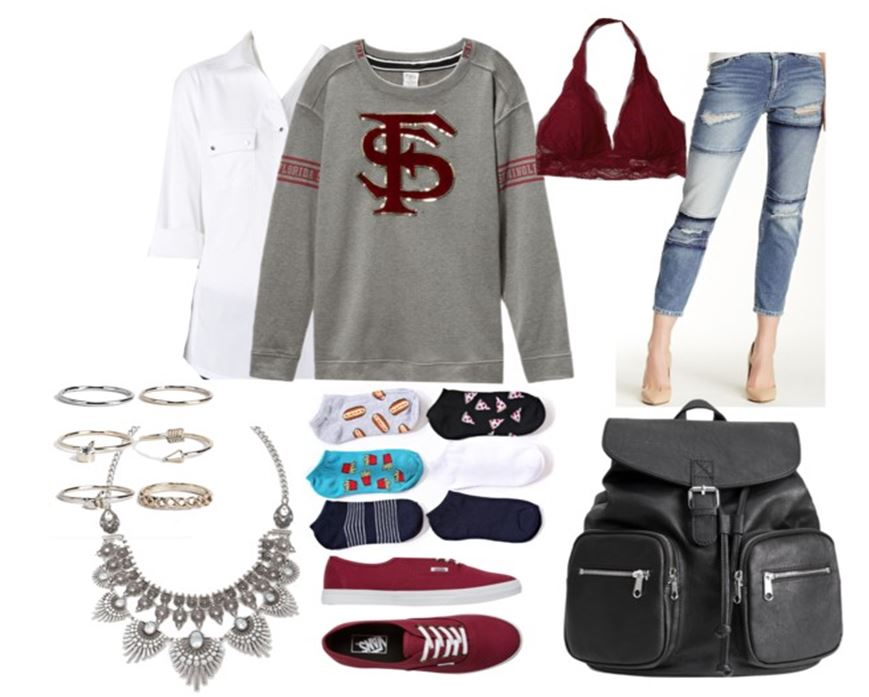 These are some great ideas of how to style a college sweater!