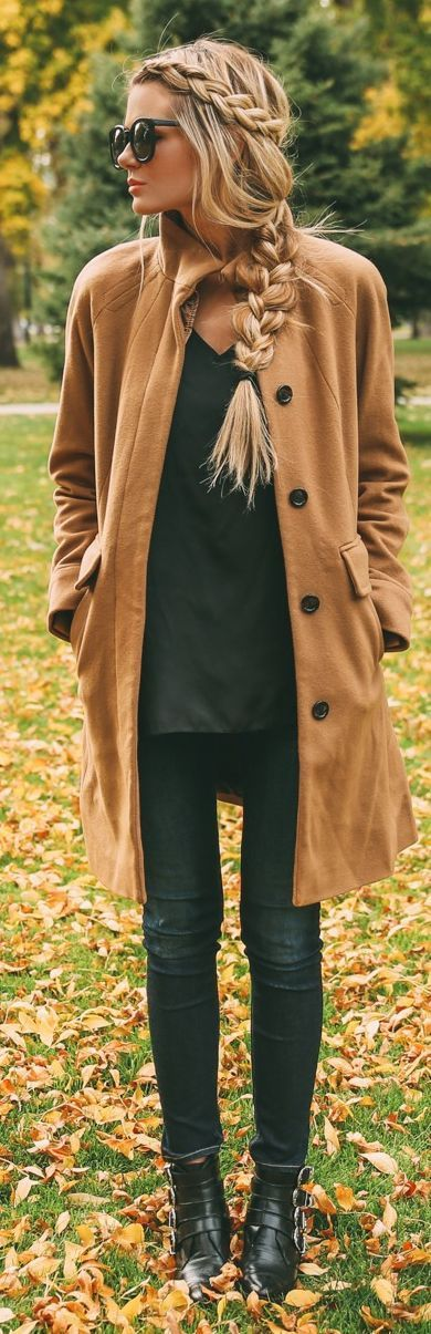 A camel trench is the perfect touch for any fall outfit!