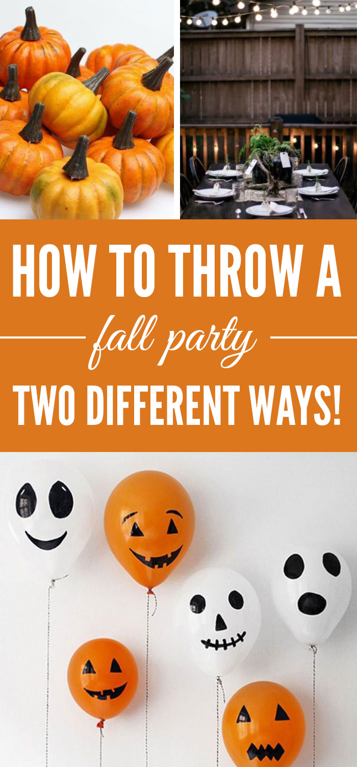 How To Throw A Fall Party Two Different Ways