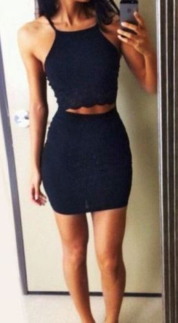 I love this navy blue two piece co-ord set!