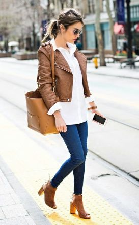 Open toe booties are the perfect fall fashion item!
