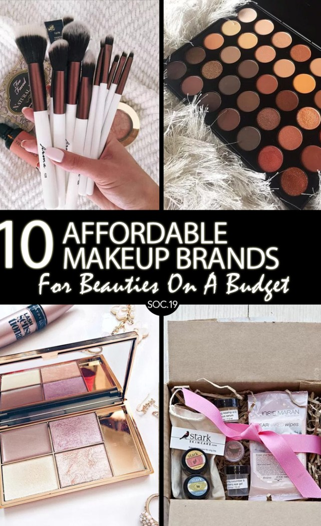 10 Affordable Makeup Brands For Beauties On A Budget