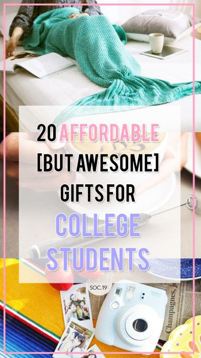 These are awesome gift ideas for college students!