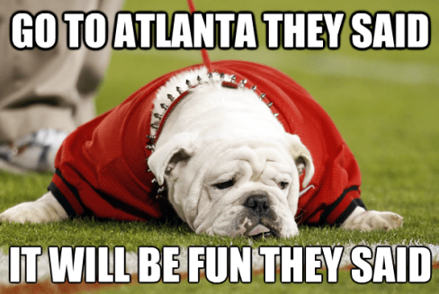 If you're from Georgia, sorry about your sports teams!
