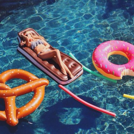 This ice cream sandwich will help you float all across the pool.