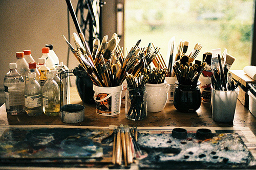 Art supplies are great tools to have for a snowy winter day.