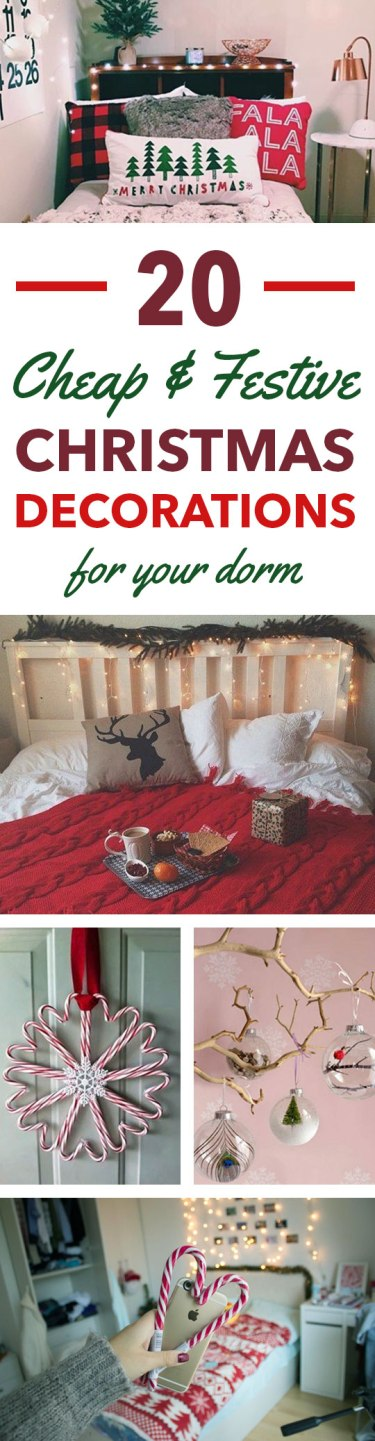 Cute ways to decorate your dorm for Christmas!