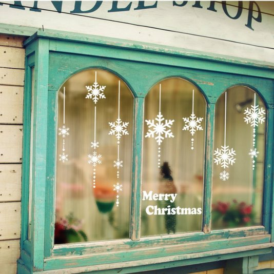 These window stickers are such cute ways to decorate your dorm for christmas!