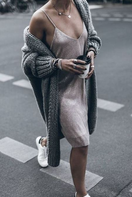 Slip dresses are definitely fall fashion must haves!