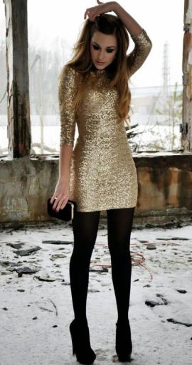 This gold dress is perfect for New Years