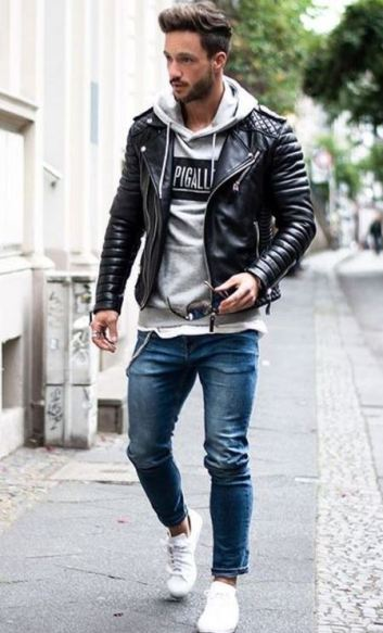 This leather jacket looks so cool.