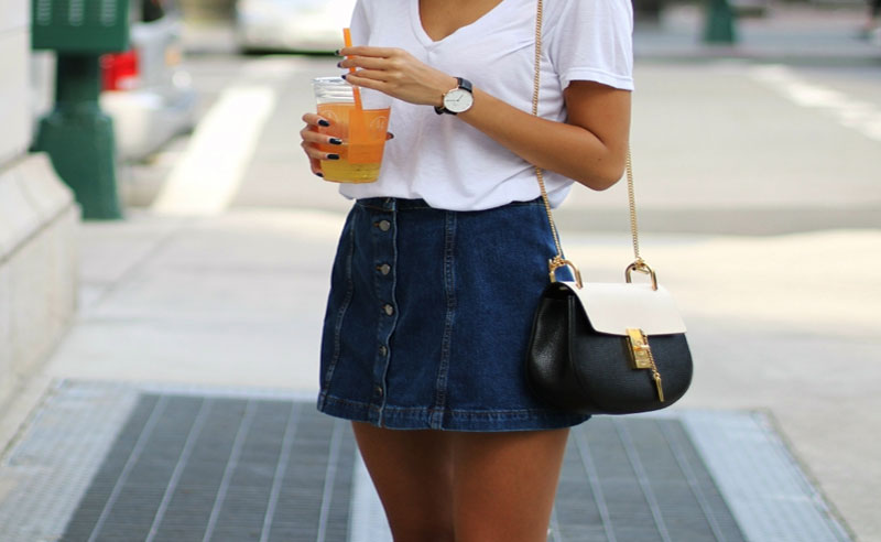 5 Tips For How To Wear A Denim Skirt