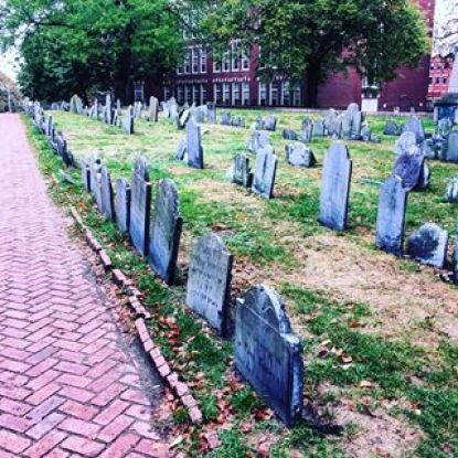 Visit Copp's Hill Burial ground for a fun time with friends, it is one of the most haunted places in Massachusetts!