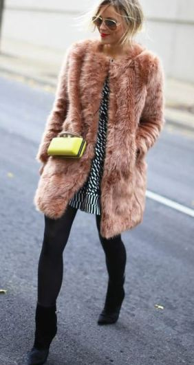 I love this pink fur coat!