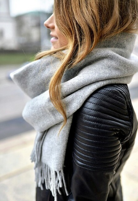 A scarf is cute in all four seasons.
