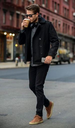 A wool coat is a great item to have during the fall.