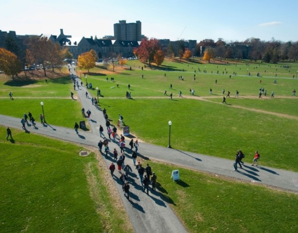 The drillfield is one of the best places to hookup at VT!