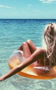 girl in the ocean