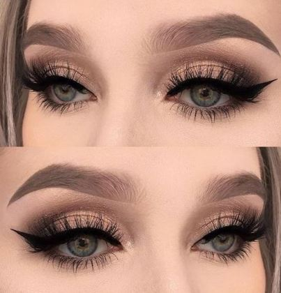 This nude smokey eye shadow is amazing!