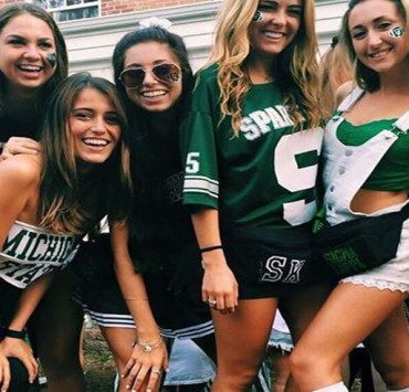 Adorable Gameday Outfits at Michigan State University