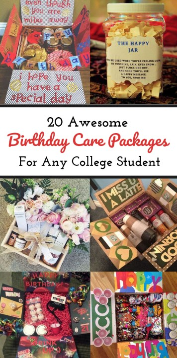 These awesome birthday care packages are perfect for any college student!