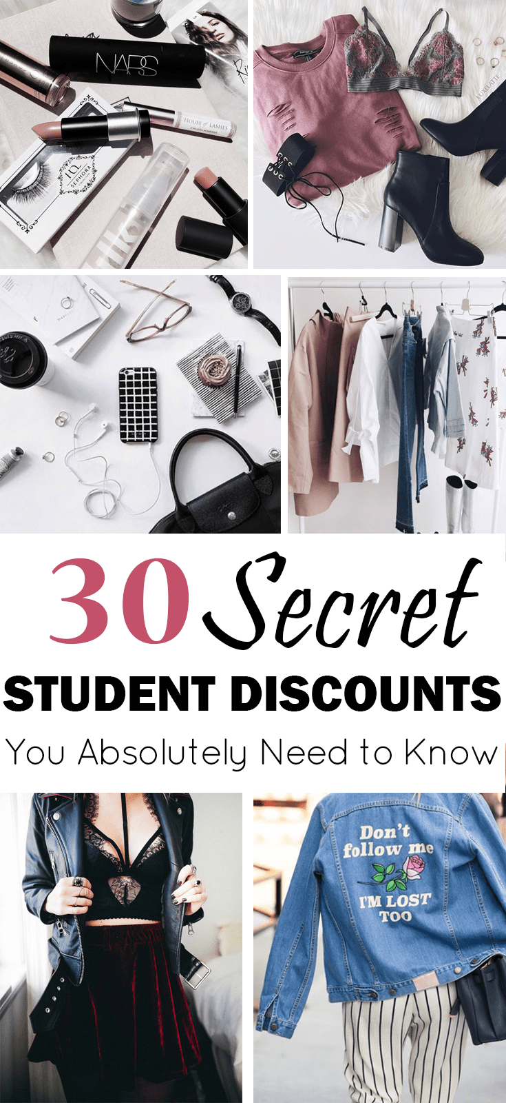 Tons of secret student discounts that you absolutely need to know about right now! Amazing discounts on clothing, electronics, shoes, travel and more!