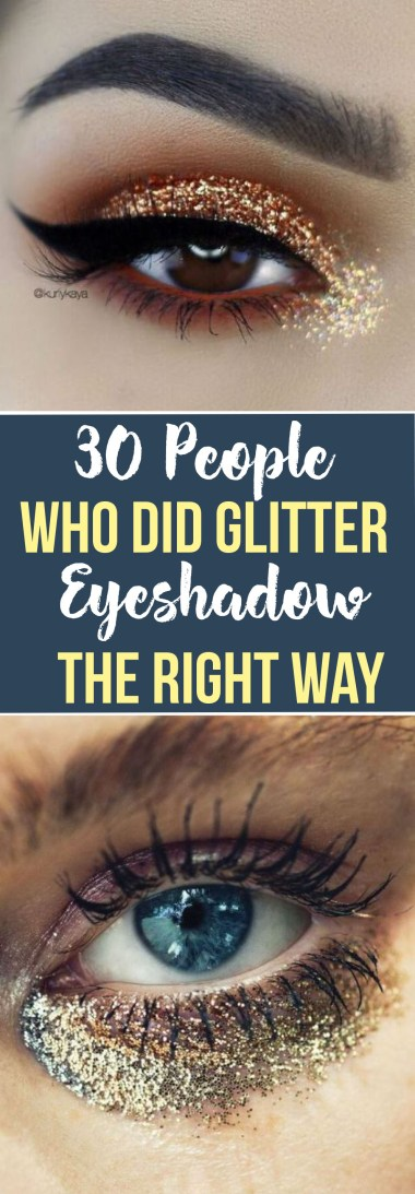 These are the people that do glitter eyeshadow the right way!