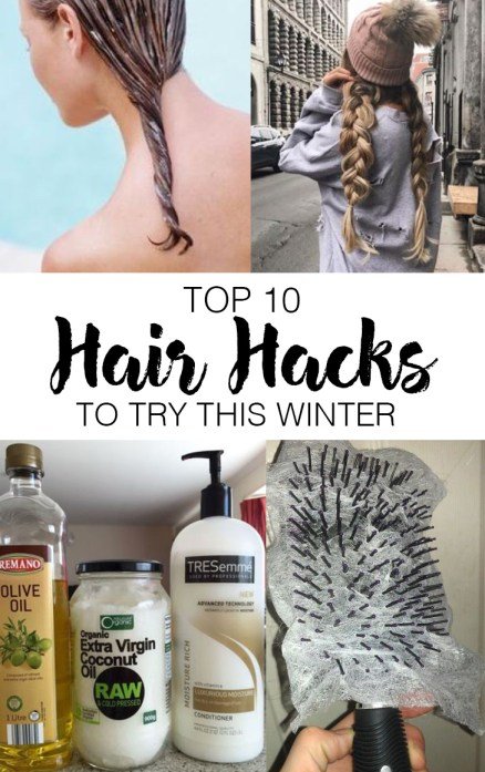 Here's the top hair hacks you need to try for the winter!