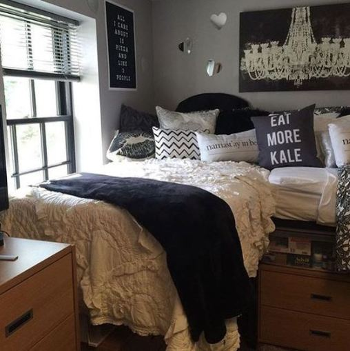50 cute dorm room ideas that you need to copy society19. Black Bedroom Furniture Sets. Home Design Ideas
