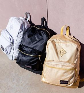 I love these metallic Jansport backpacks!