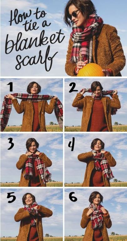 20 Ways To Wear A Blanket Scarf