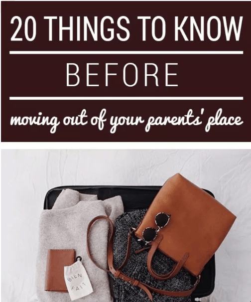 These are the 20 Things You Must Know Before Moving Out Of Your Parents' House