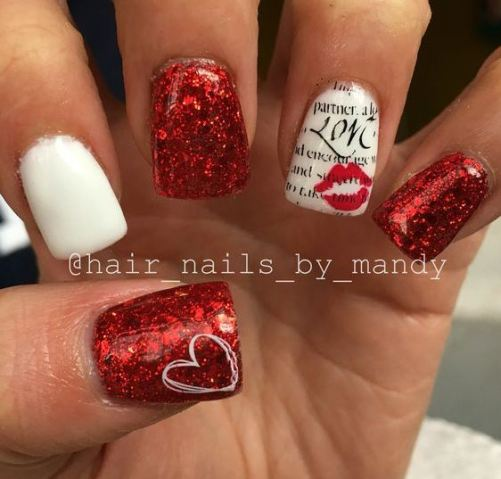 These Valentine's Day nails are so pretty!
