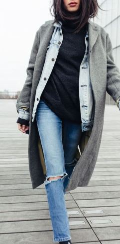 Layering up is a great idea for winter date night outfits!